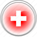 city, country, federation, flag, flag switzerland, switzerland icon
