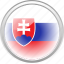federation, flag, flag slovakia, nation, slovakia icon