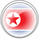 city, federation, flag, flag north korea, north korea icon
