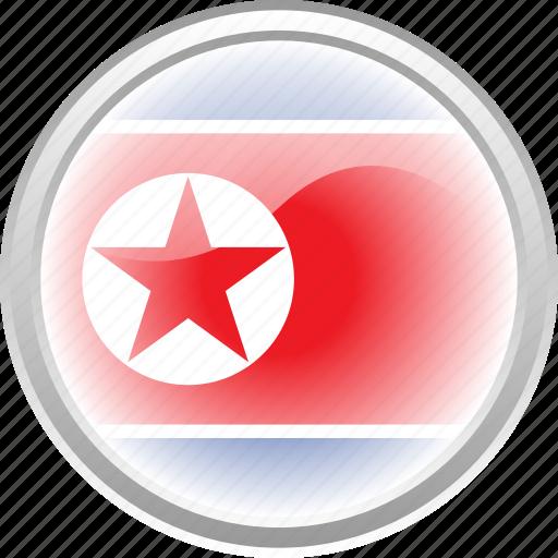 city, federation, flag, flag north korea, north korea icon