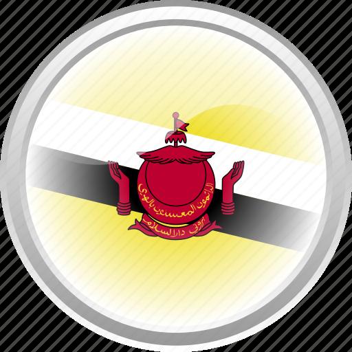 asian, bruenai, city, country, flag, flag bruenai icon
