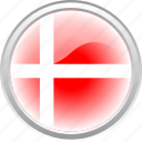 city, country denmark, denmark, flag, flag denmark, red flag icon