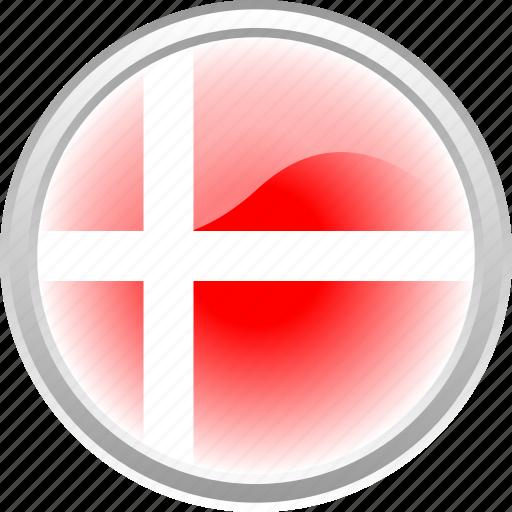 city, country denmark, denmark, flag, flag denmark, red flag icon