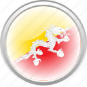 bhutan, city bhutan, dragon, flag, flag bhutan icon