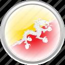 bhutan, city bhutan, dragon, flag, flag bhutan