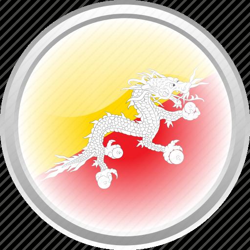 bhutan, city bhutan, dragon, flag, flag bhutan icon