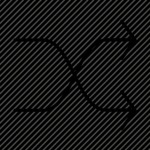 arrow, arrows, casual, random icon