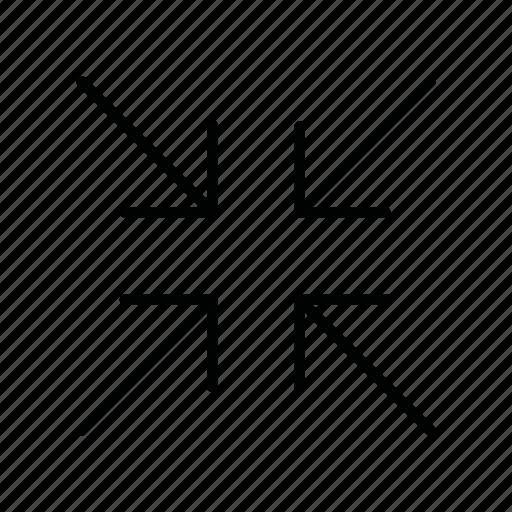 arrow, arrows, collapse, decrease, minimize, reduce, zoom out icon