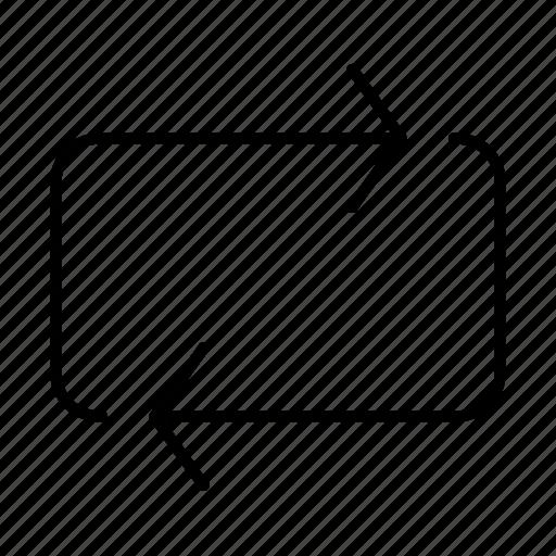 arrows, loop icon