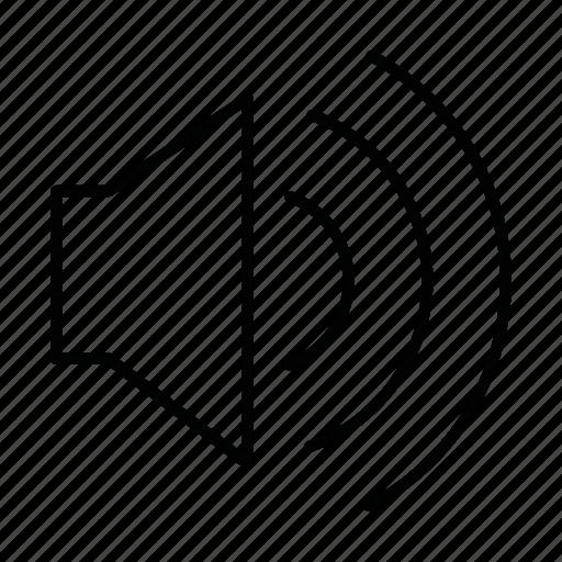 audio, high volume, loud, music, sound, speaker, volume icon
