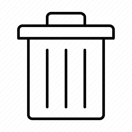 bin, can, cancel, delete, dustbin, trash, trash can icon
