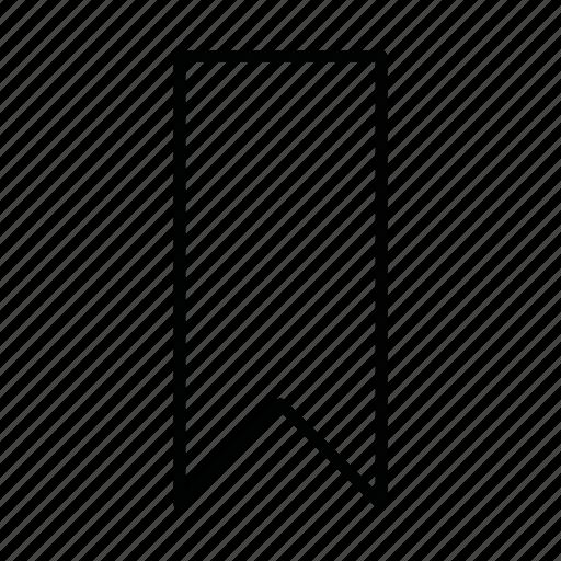 bookmark, favorite, location, marker icon