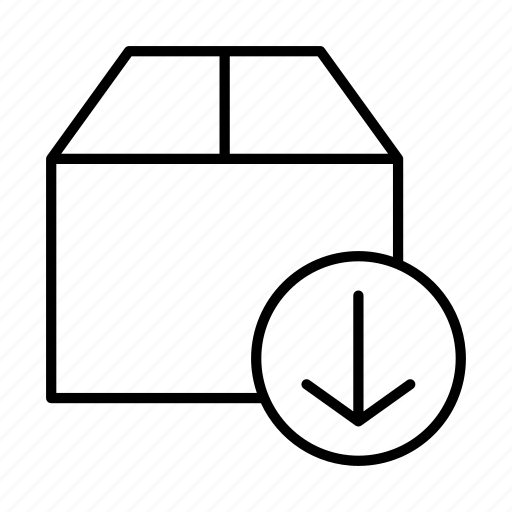 box, database, delivery, download, storage icon