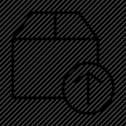 box, database, delivery, storage, upload icon