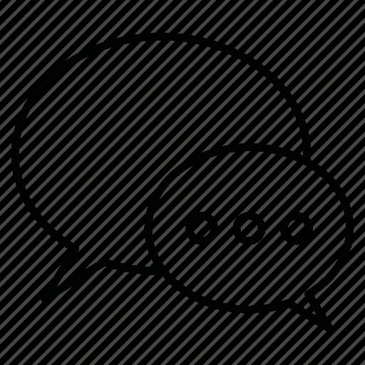 bubble, chat, conversation, dialog, discussion, message, talk icon