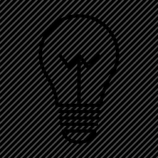 bulb, creative, energy, idea, lamp, light, light bulb icon