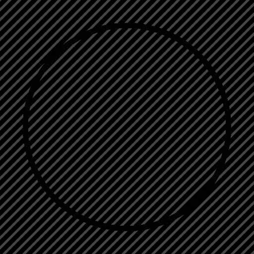 circle, circular, circumference, girth, round, shape icon