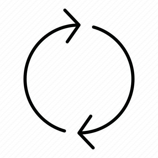 circle, cycle, direction, loop, refresh, round, sync icon