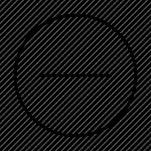close, delete, minus, reduce, remove, subtract, subtraction icon
