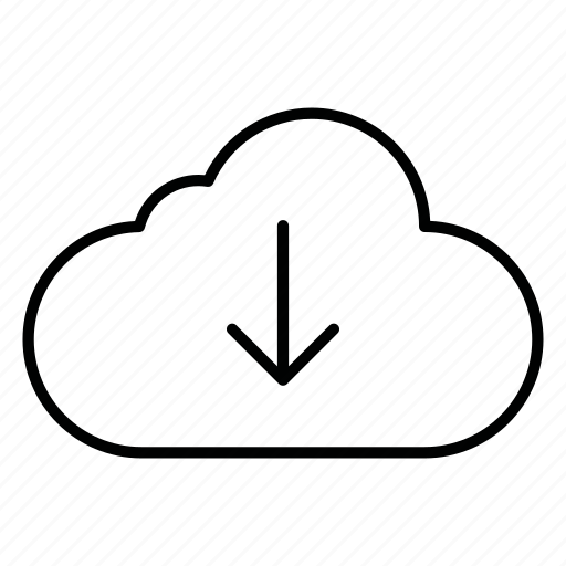 cloud, clouds, cloudy, database, download, server, storage icon