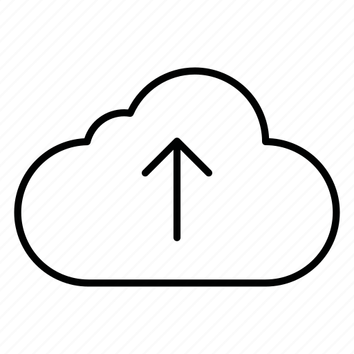 cloud, clouds, cloudy, database, server, storage, upload icon