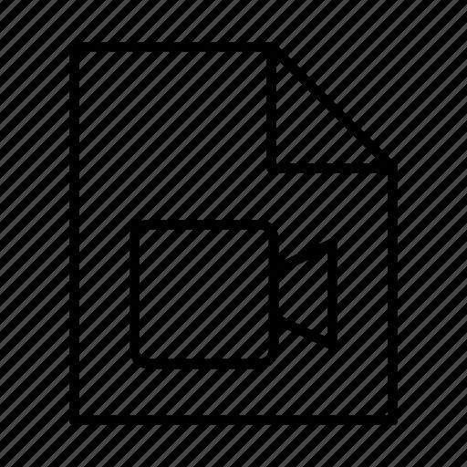 document, file, film, media, movie, multimedia, video icon