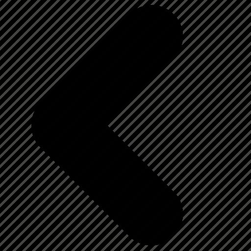 arrow, back, caret, left, previous icon