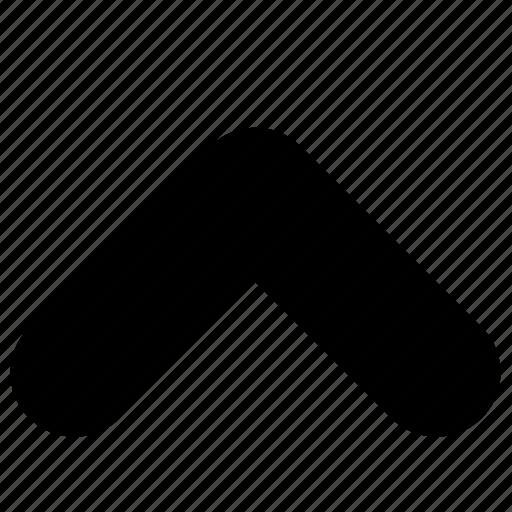 arrow, caret, previous, up, upload icon