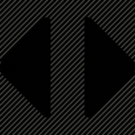arrows, horizontal, horizontally, left, right, sort icon