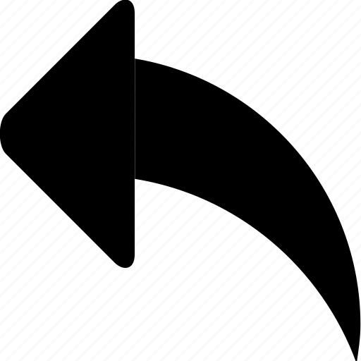 arrow, left, reply, rotate, turn, undo icon