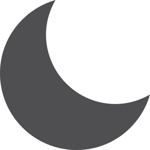 fill, moon icon