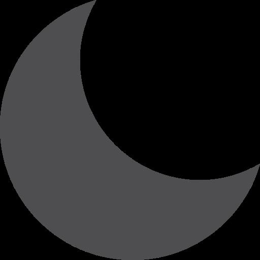 fill, moon icon