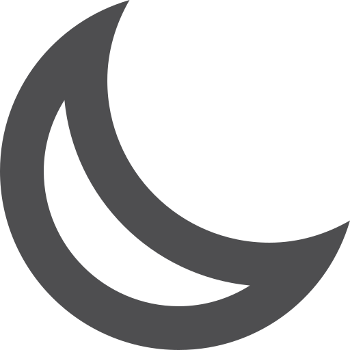 moon, stroke icon