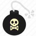 bomb, caution, exclamation, explosive, military, warning icon