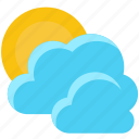 cloudy, forecast, temperature, weather icon