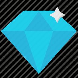 diamond, gem, jewelry, precious icon