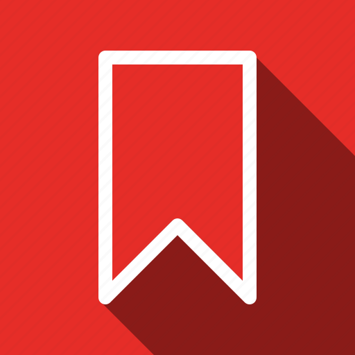 bookmark, long shadow, ribbon icon