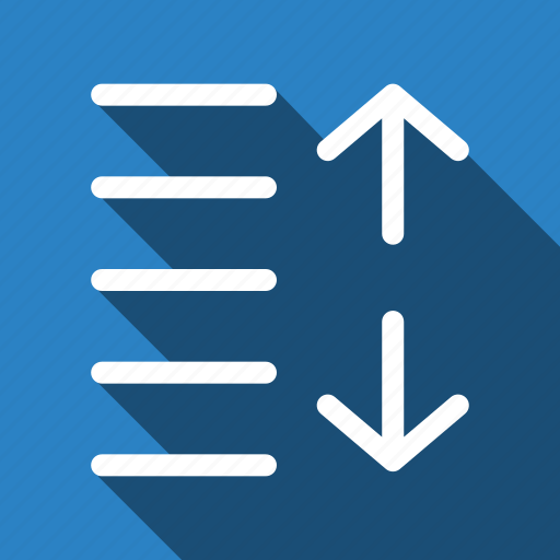 increase, long shadow, spacing icon