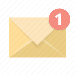 email, envelope, letter, mail, new, notification, recieve icon