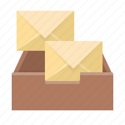 box, email, envelope, inbox, letters, mail, mailbox icon