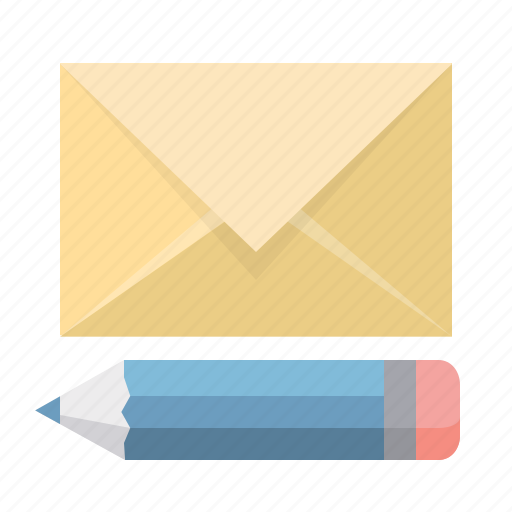 compose, email, envelope, letter, mail, pencil, write icon