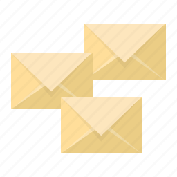 email, emails, envelopes, feed, news, post, subscribtion icon