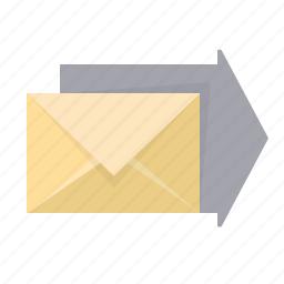 arrow, email, envelope, forward, letter, mail, send icon