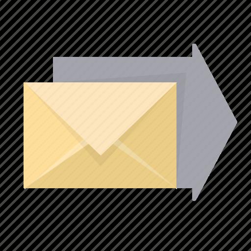 arrow, email, envelope, forward, send icon