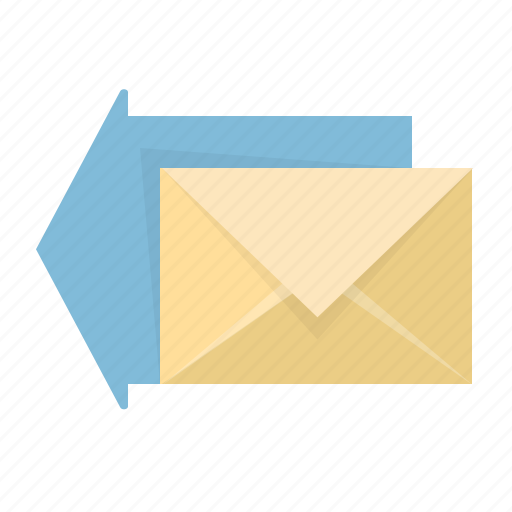 arrow, communication, email, envelope, letter, mail, reply icon