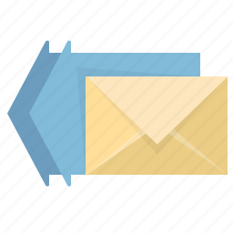 arrow, email, envelope, everybody, letter, mail, reply icon