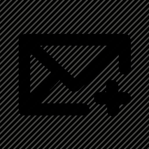 add, message, ui, write icon