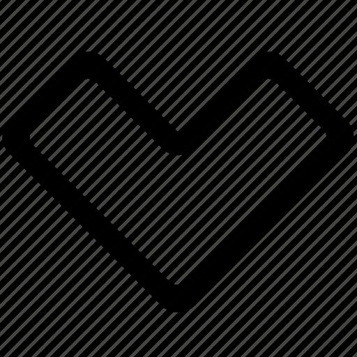 arrow, below, down icon