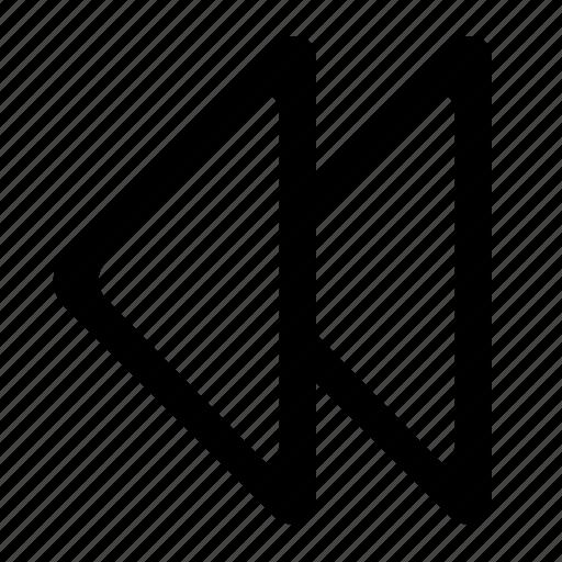 audio, back, left, media, player, previous, rewind icon