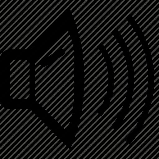 audio, loud, media, player, sound, speaker, volume icon